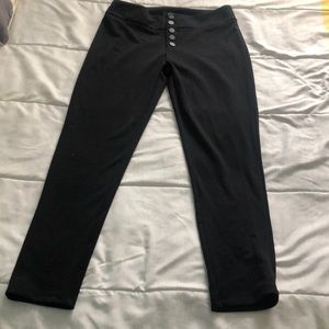 High Rise Button Front Pants